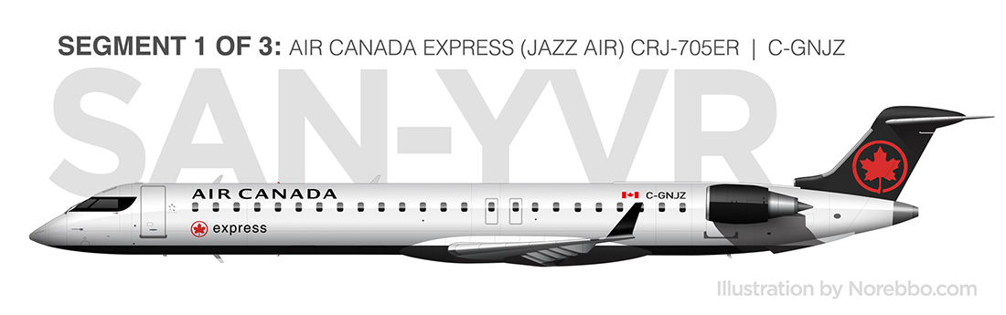 Air Canada Express (Jazz) CRJ-900 side view