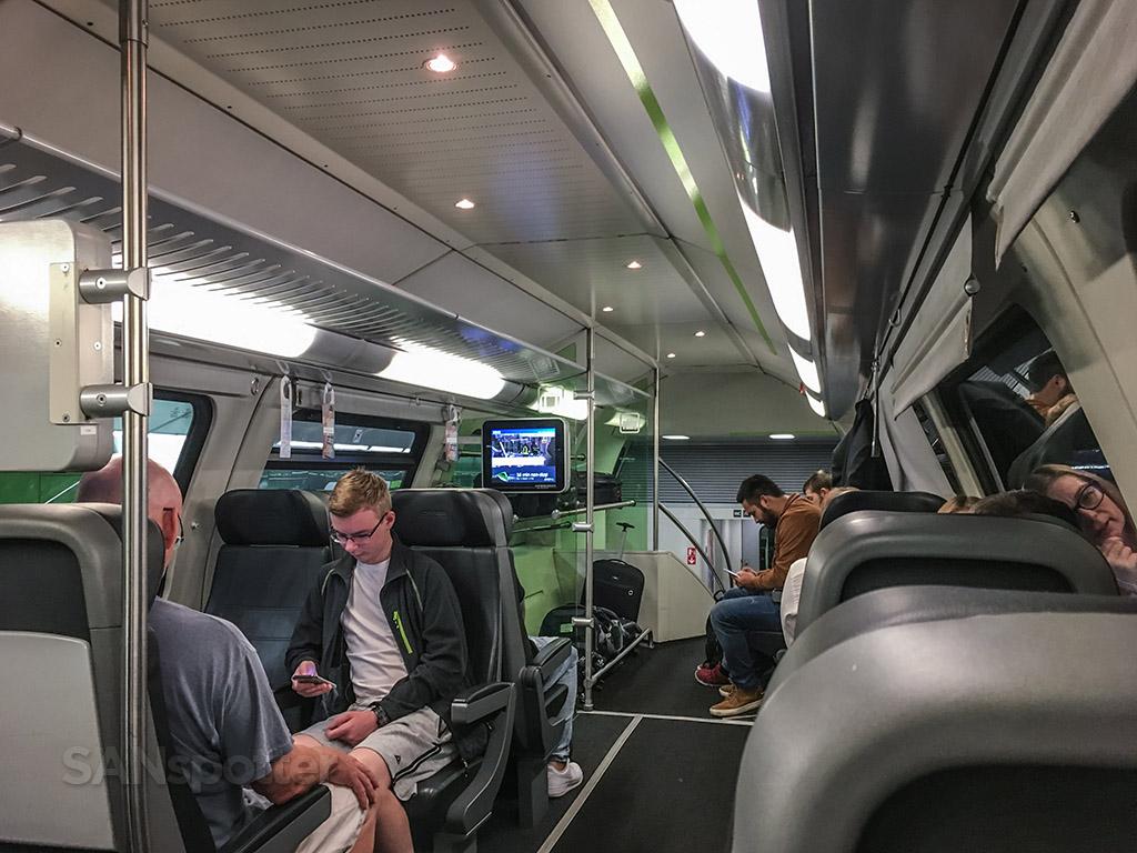 Vienna CAT train interior
