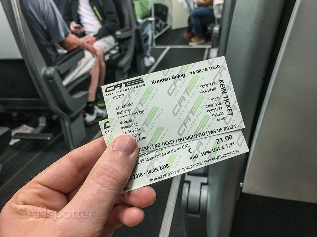 Vienna CAT train ticket