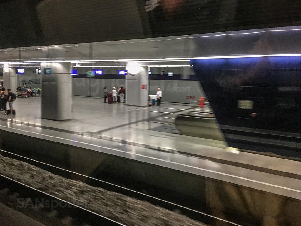 Leaving Vienna airport train station