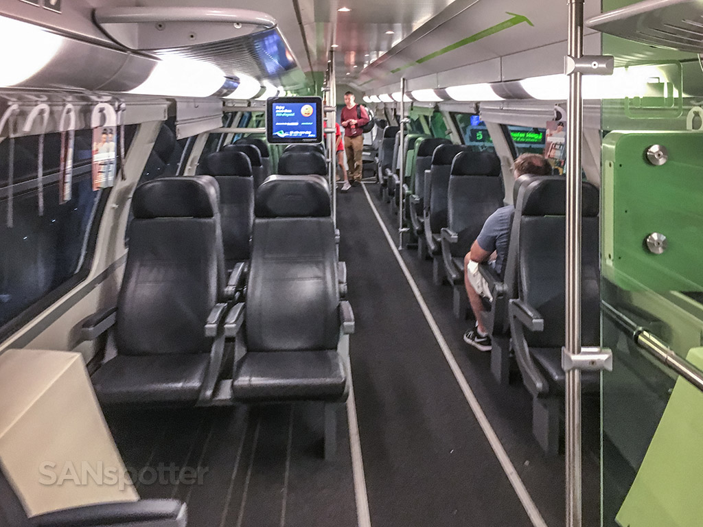 Vienna city express train interior