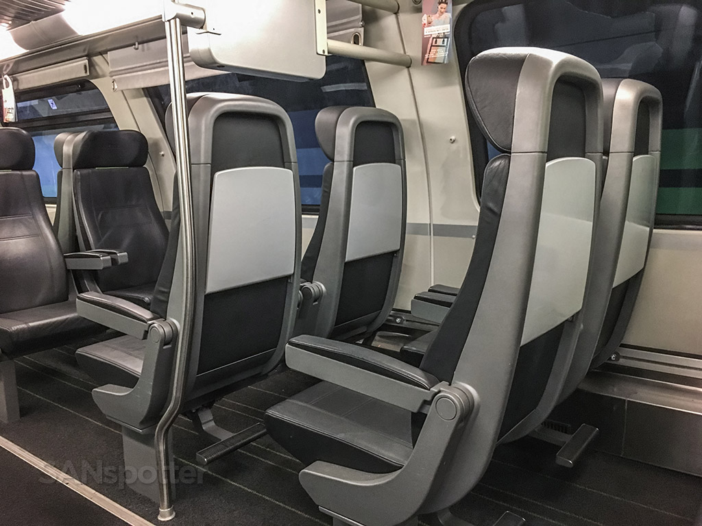 Vienna city express train seats