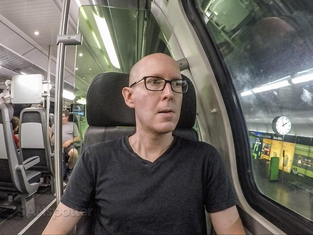 SANspotter selfie Vienna CAT train review