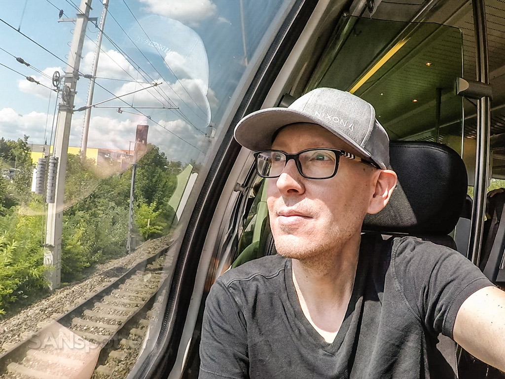 SANspotter selfie Vienna CAT train