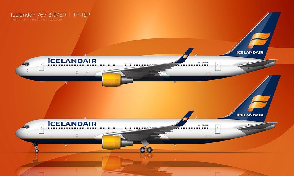 Icelandair 767-319/ER rendering