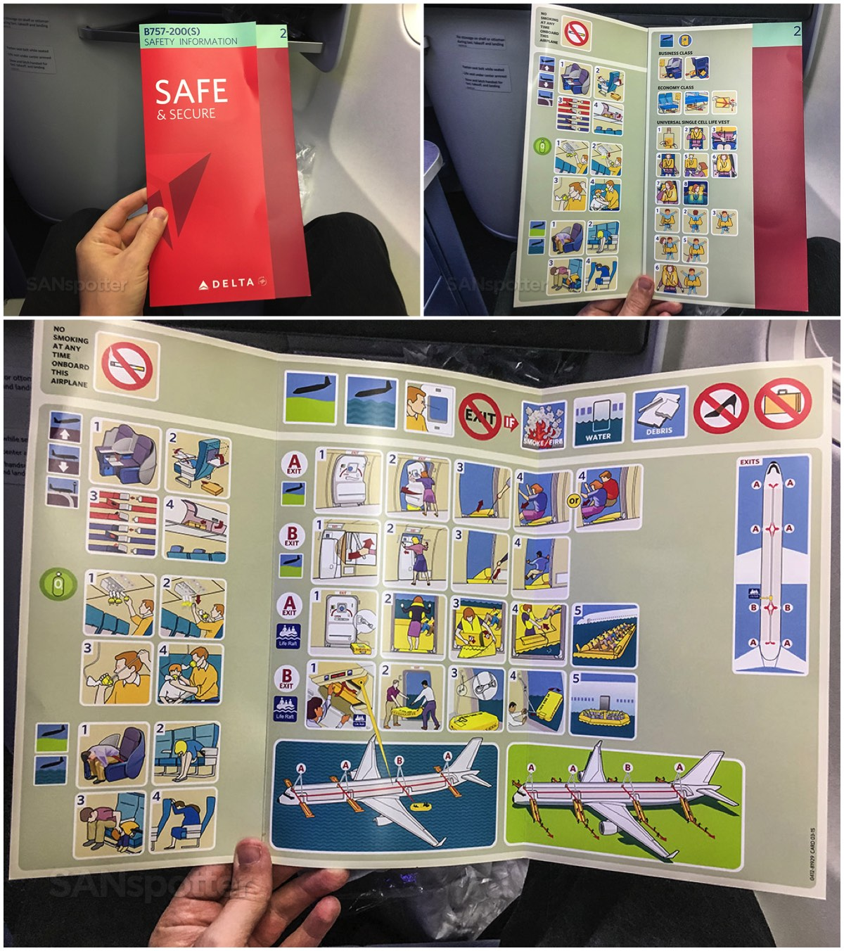 Delta 757-200 safety card