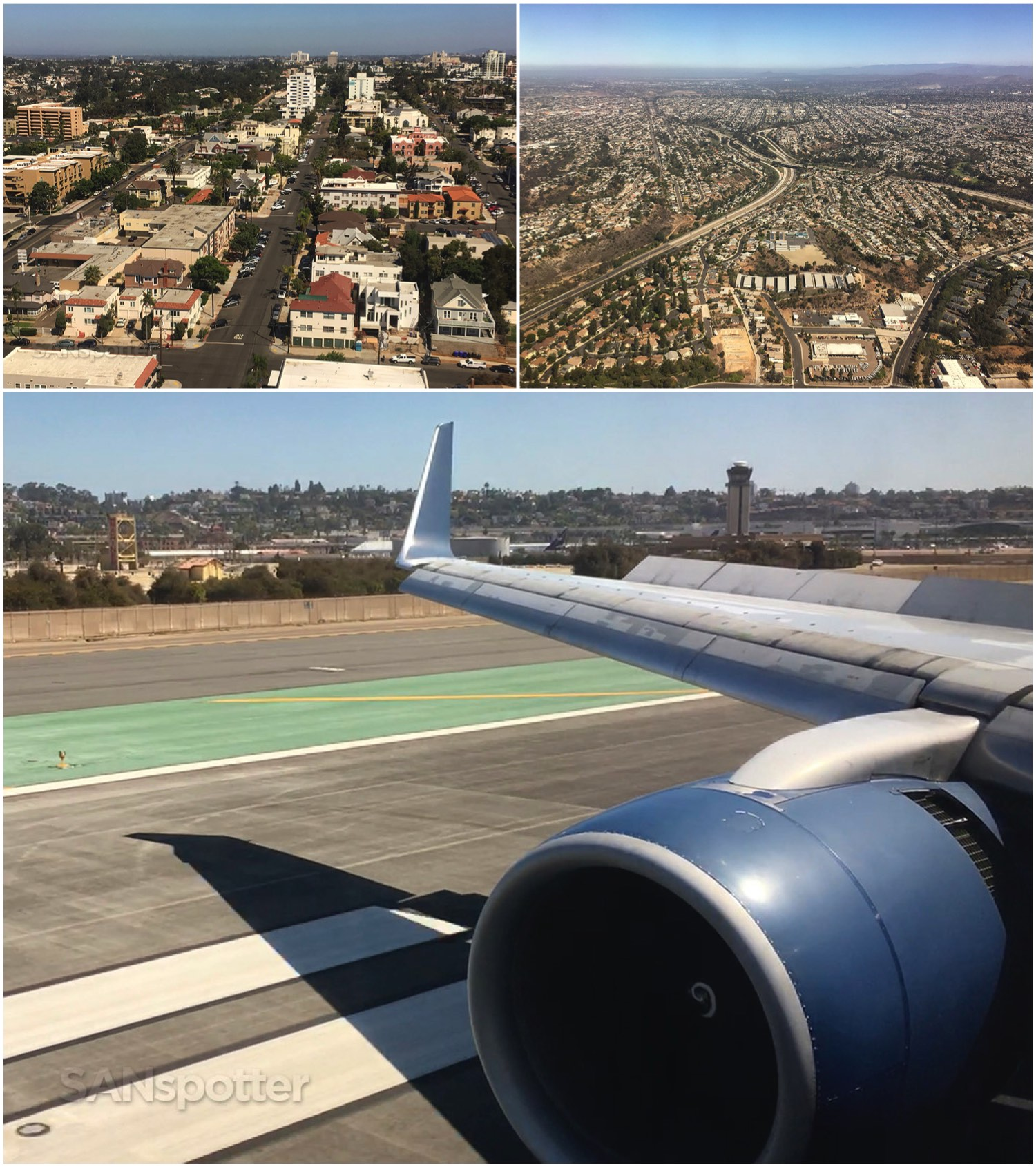 Returning home to San Diego airport
