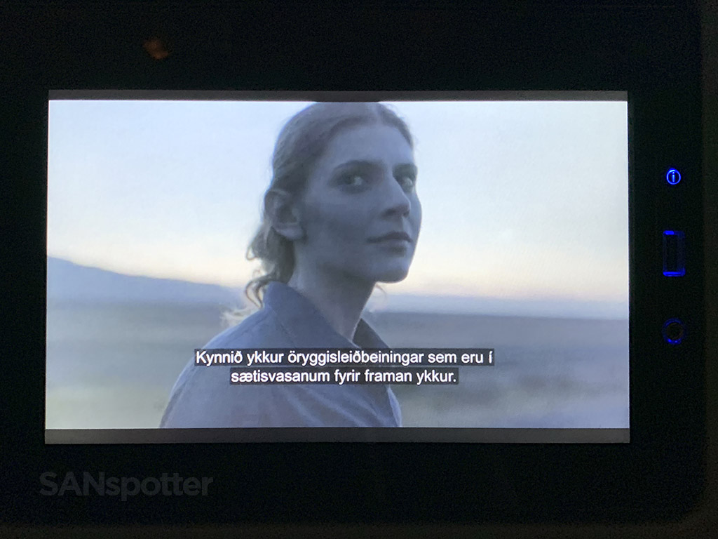 Icelandair welcome message
