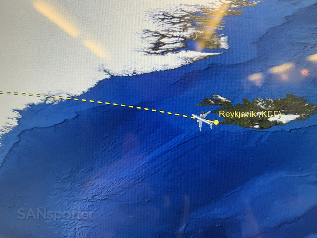 Departing Iceland on Icelandair 767