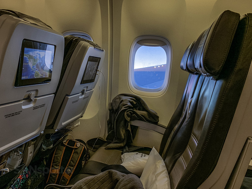 Icelandair 767 window view