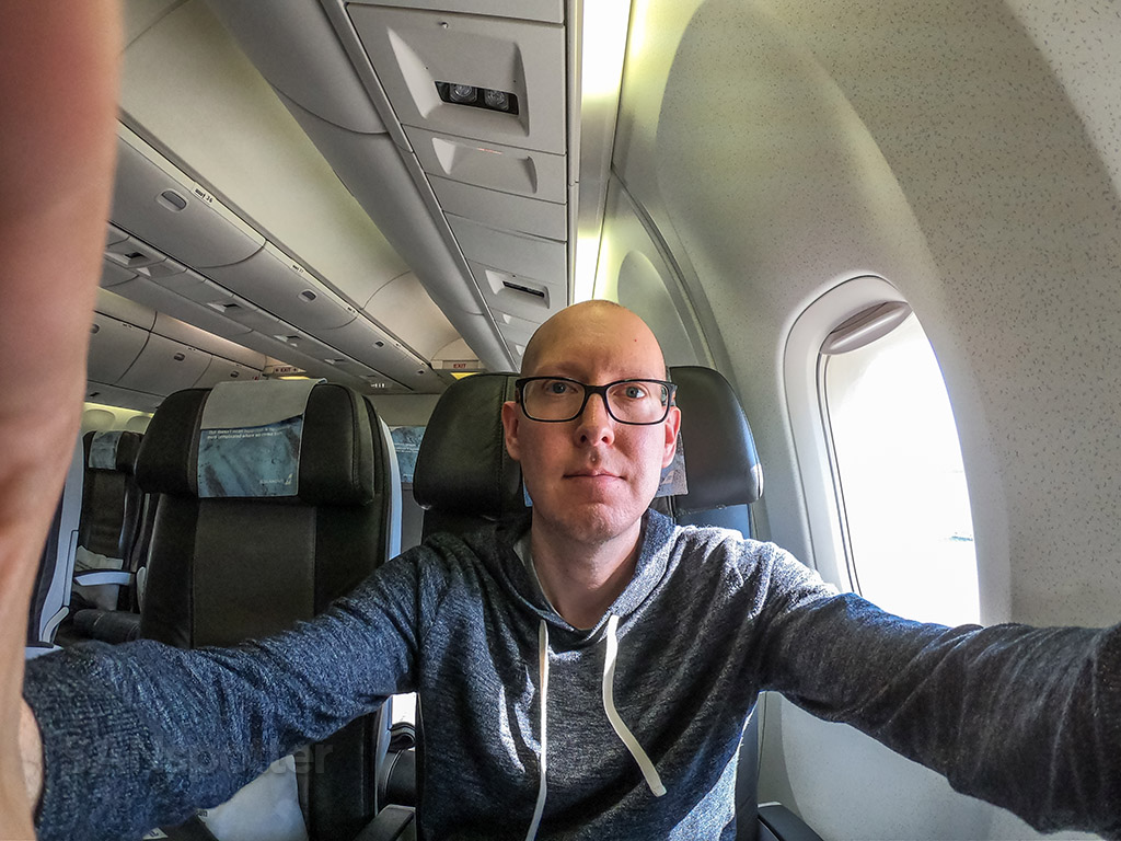 SANspotter selfie Icelandair