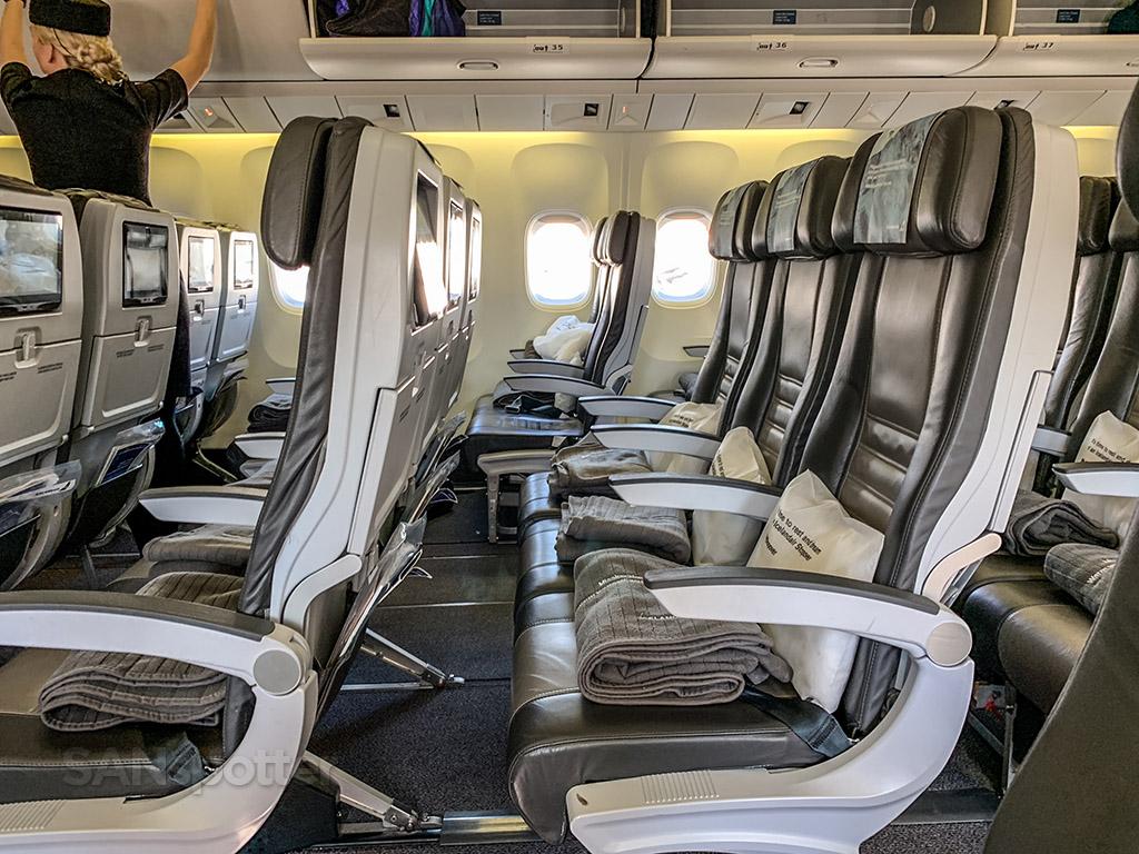 Icelandair economy class interior