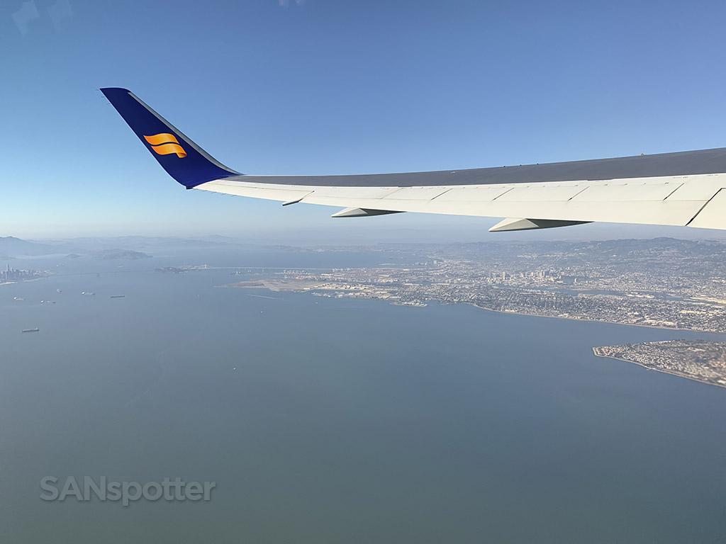 Flying over Oakland California