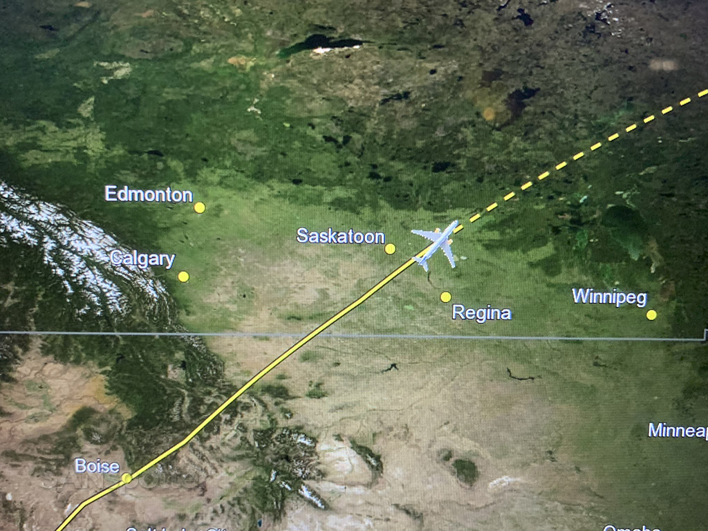 Flying over Regina Canada