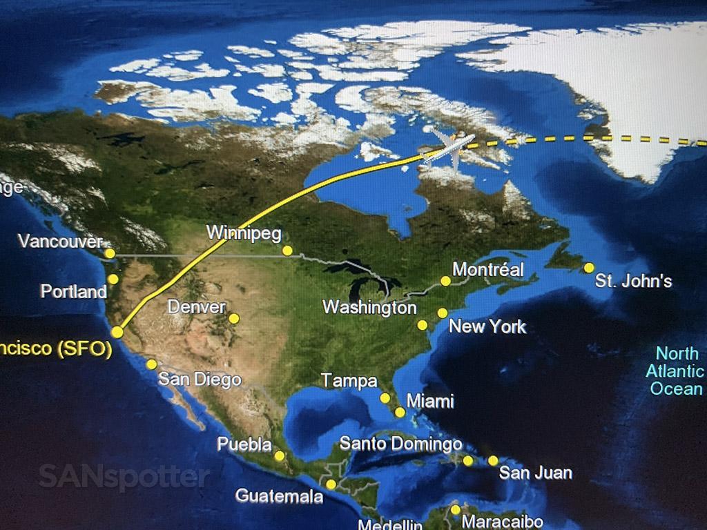 Flying from San Francisco to Reykjavik