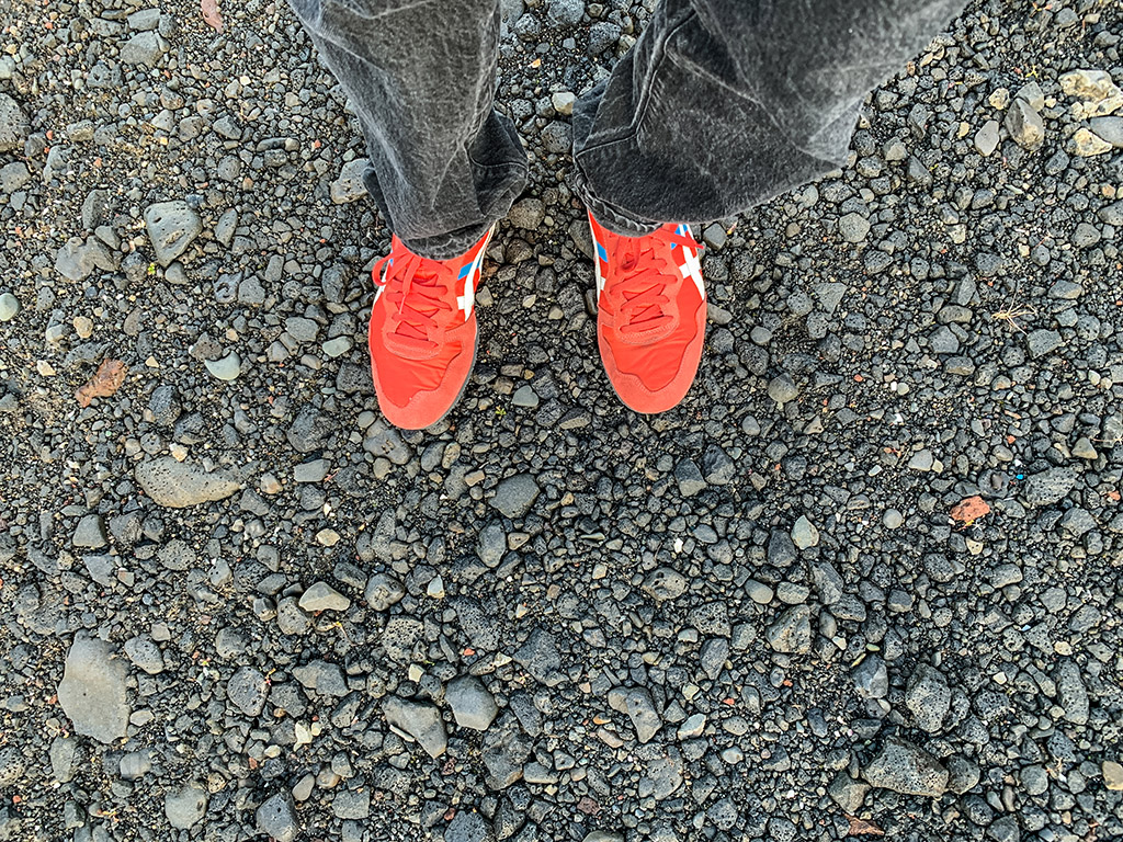 SANspotter red shoes Iceland