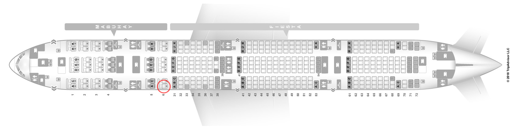 Philippine Airlines 777-300ER seat map