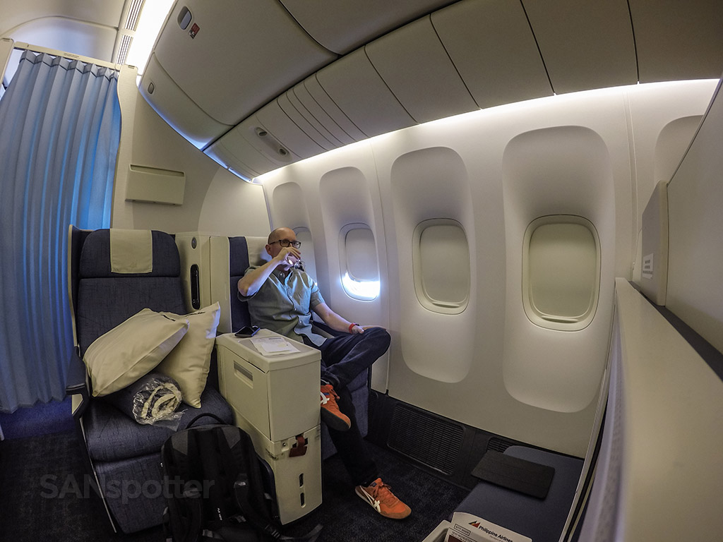 SANspotter selfie Philippine Airlines business class review