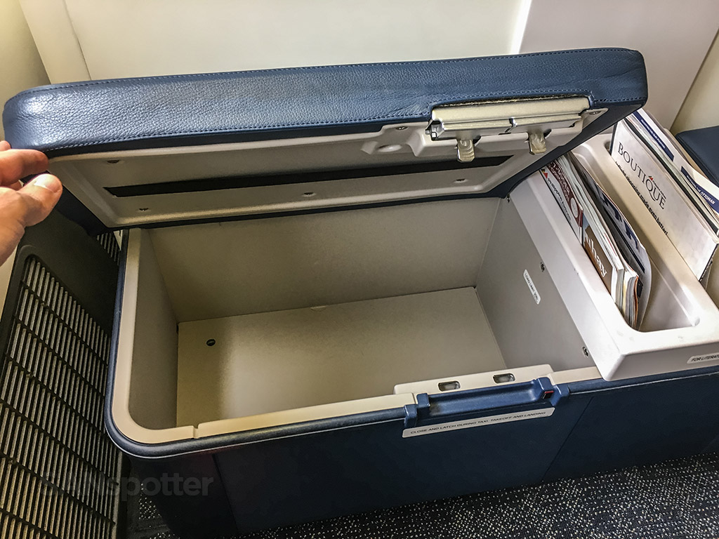 Philippine Airlines 777 business class storage