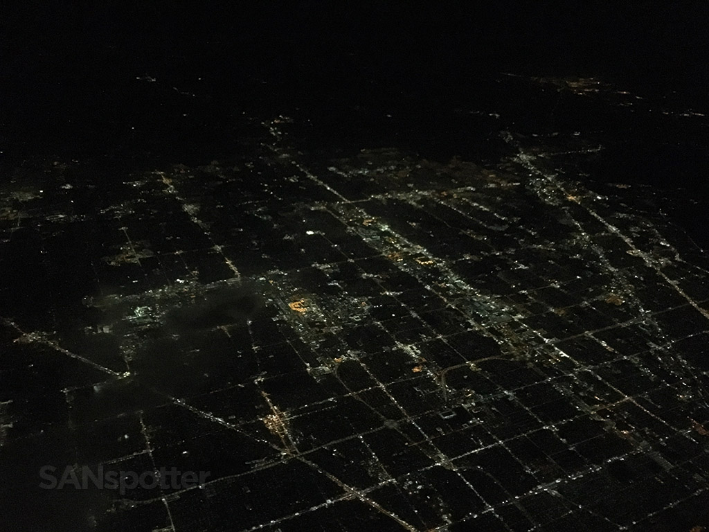 Flying over Detroit