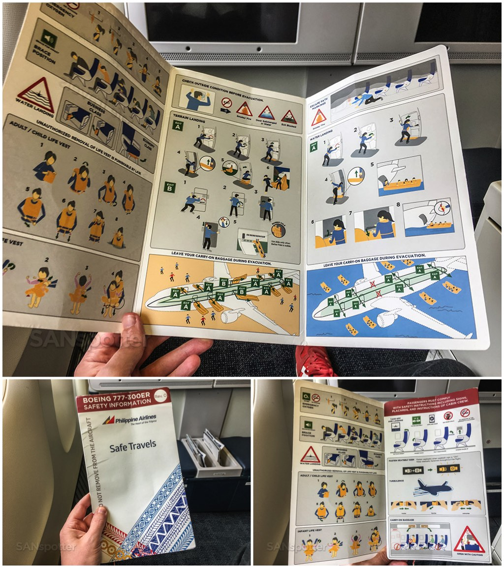 Philippine Airlines 777-300 safety card