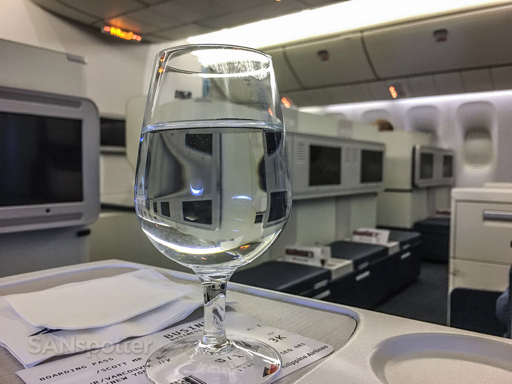Philippine Airlines business class drinks