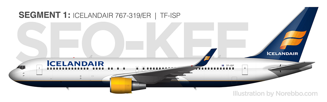 Icelandair 767-300/ER side view