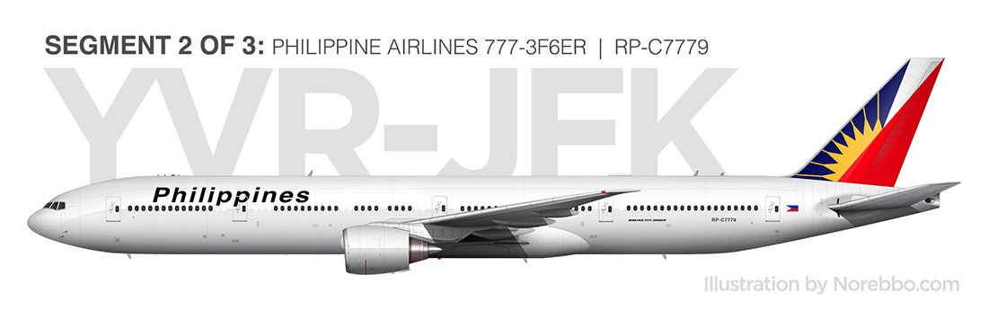 Philippine airlines 777-300 side view