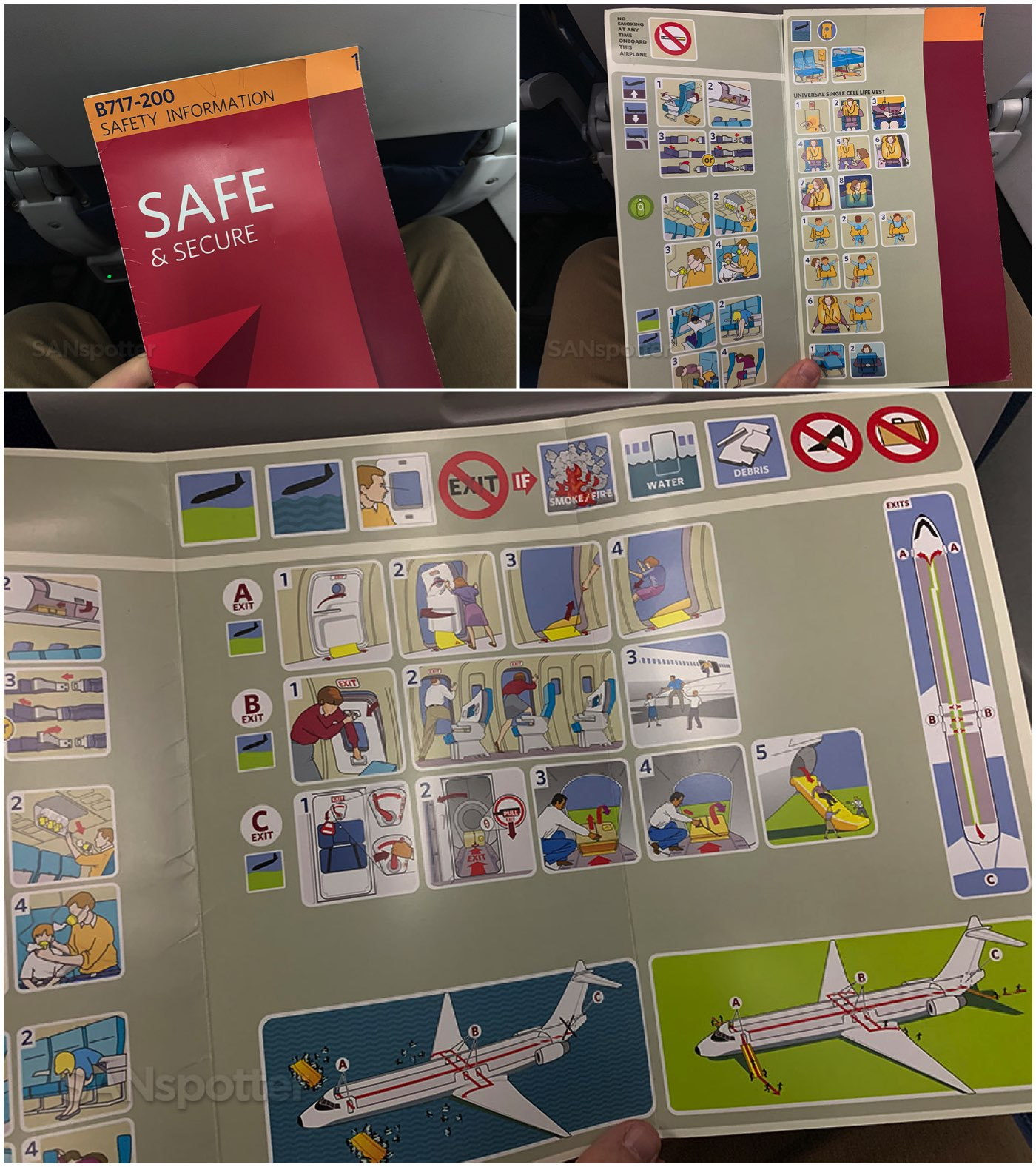 delta air lines 717-200 safety card