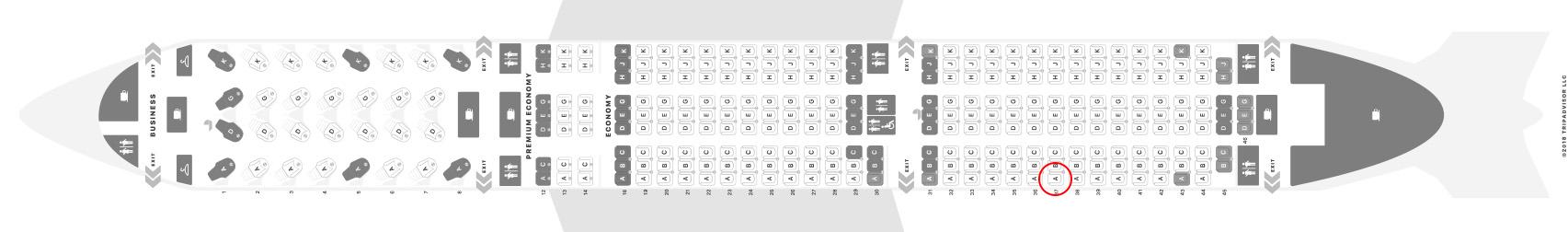 Air Canada 787-9 seat map