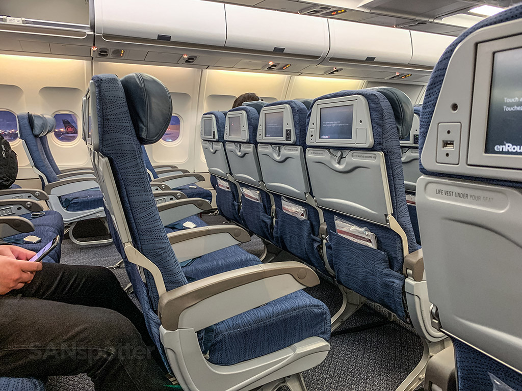 Air Canada A330-300 economy class seats