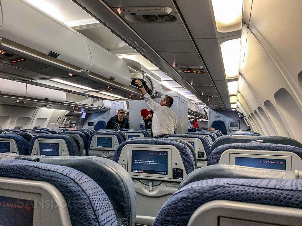 Air canada A330-300 economy class interior