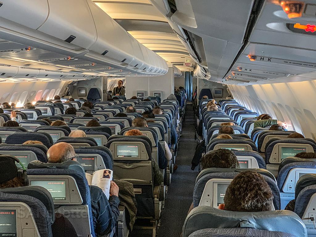 Air canada A330-300 economy class cabin