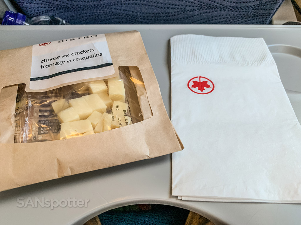 air canada economy class snack