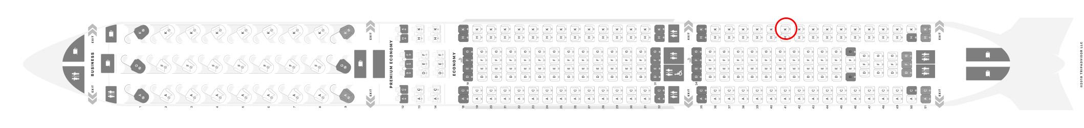 Air Canada A330-300 seat map
