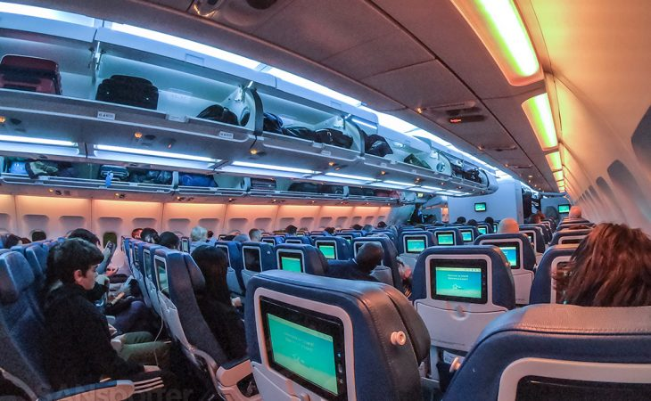 Air Transat A330-300 economy class cabin