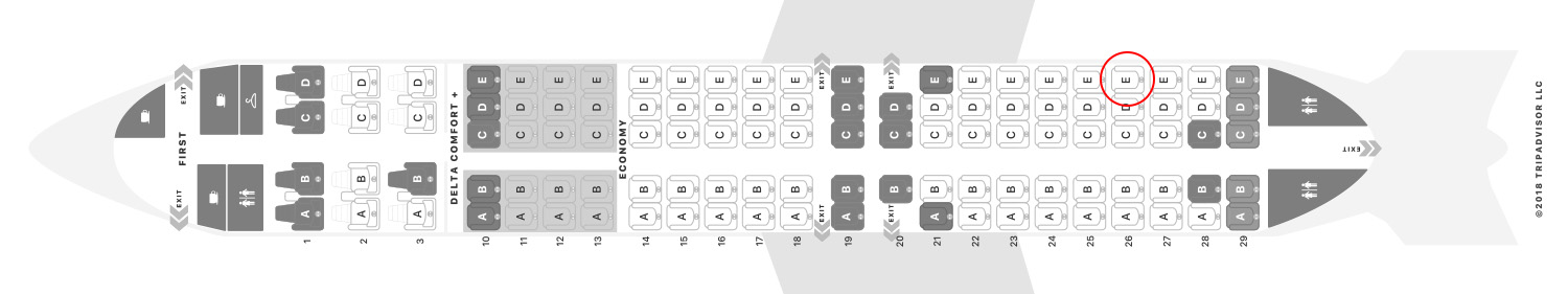 Delta 717-200 seat map