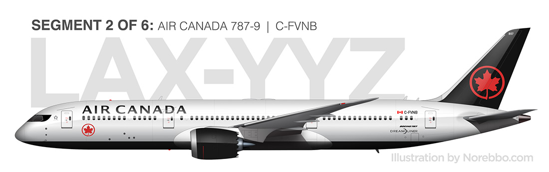 Air Canada 787-9 side view