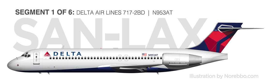 Delta Air Lines 717-200 side view