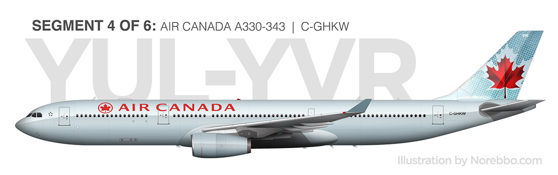 Air Canada A330-300 side view