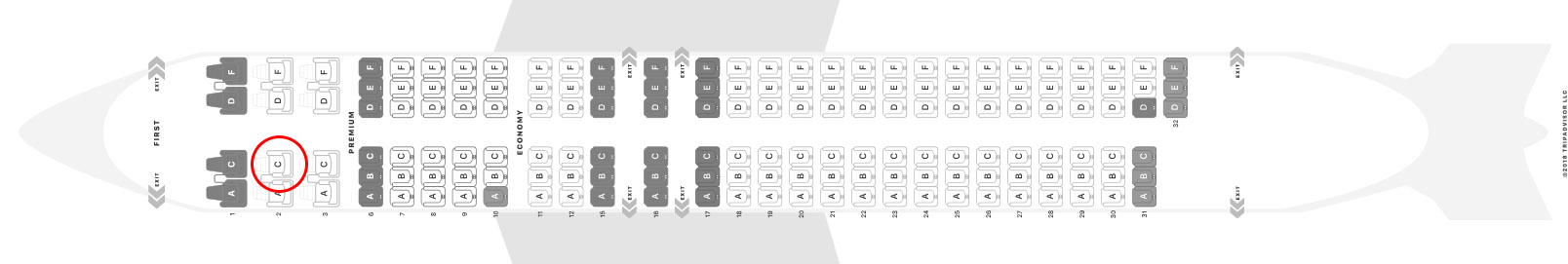 Alaska Airlines 737-800 seat map