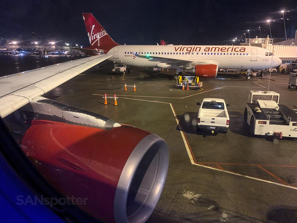 Virgin America Alaska Airlines SeaTac Airport