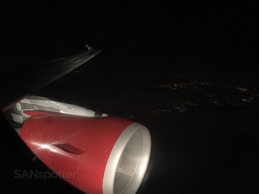 Virgin America red engine