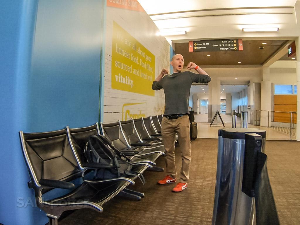 SANspotter selfie Seattle Airport
