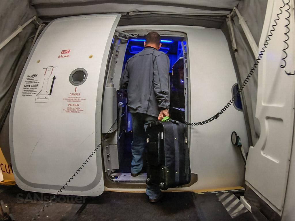 Alaska Airlines a319 boarding door