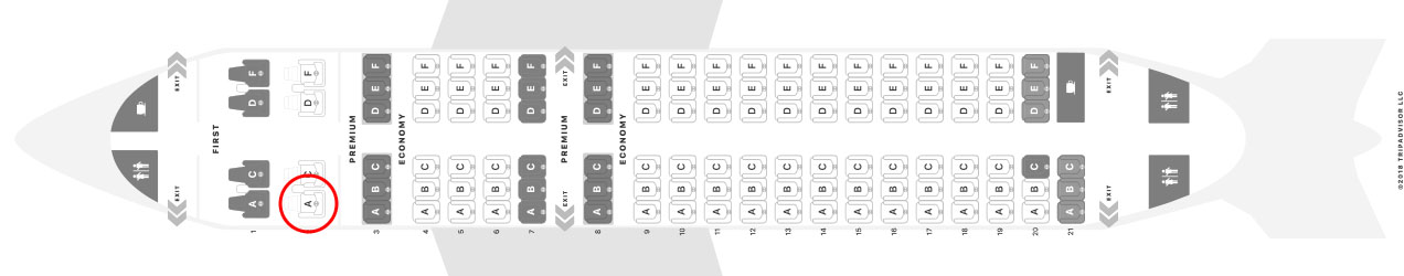 Alaska Airlines A319 seat map