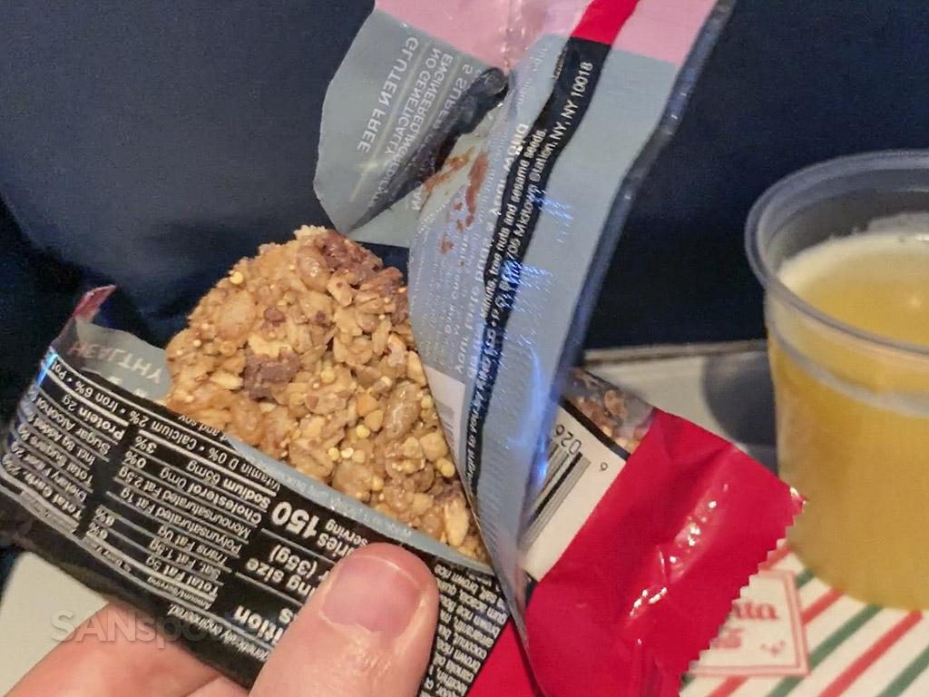 Delta Airlines economy snack