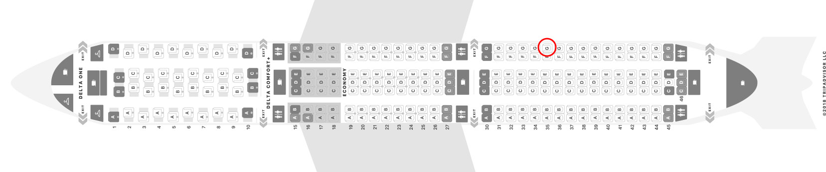 Delta 767-400 seat map