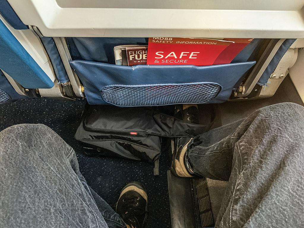 Delta MD88 economy leg room
