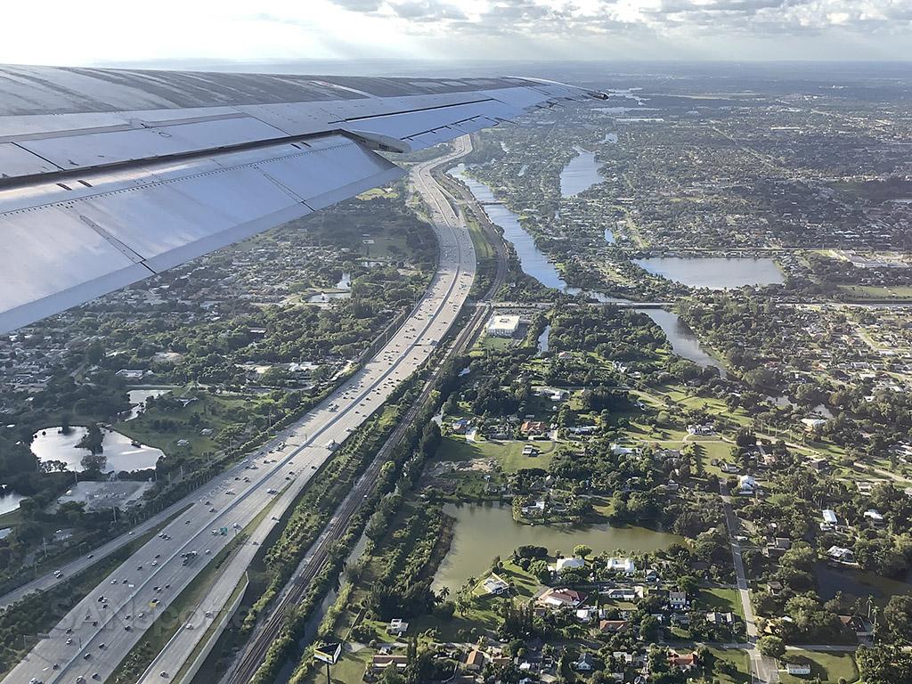 PBI airport takeoff
